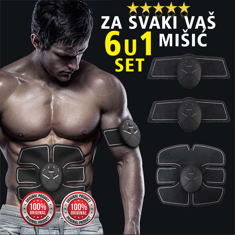 6 u 1 EMS Stimulator za mišiće celog tela -Smart Fitness