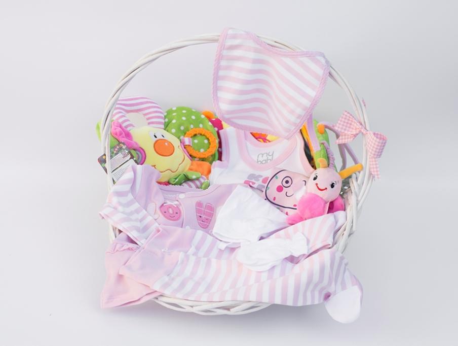 Poklon korpa za Bebe   - Mini roze set