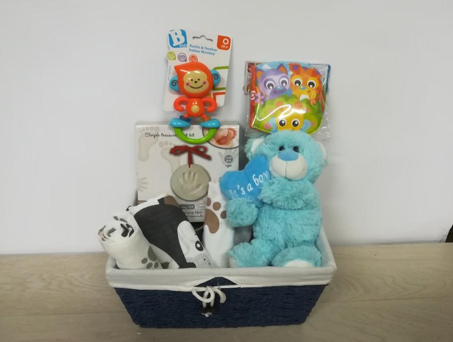 Poklon korpa za Bebe- Plavi meda1