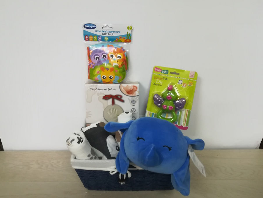 Poklon korpa za Bebe- Plavi meda2